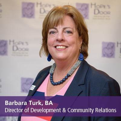 Barbara Turk, BA, Director of Development & Community Relations