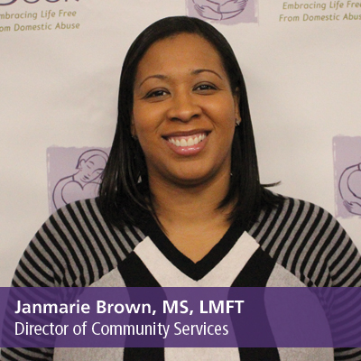Janmarie Brown, MS, LMFT, Director of Community Services