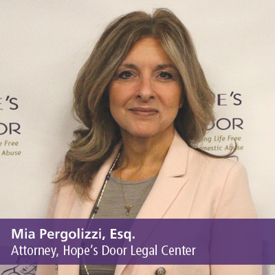 Mia Pergolizzi, Esq., Attorney, Hope's Door Legal Center