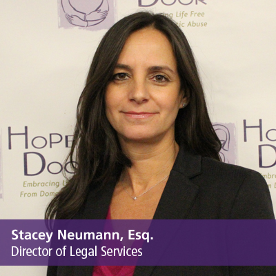 Stacey Neumann, Esq., Director of Legal Services